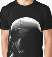 JAGER - Rainbow Six Siege Oil Painting (Black & White) Graphic T-Shirt