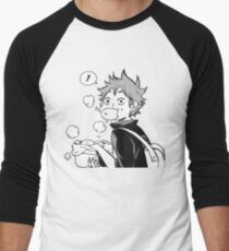 HAIKYUU: Hinata Eating Senpai's Pork Buns  Men's Baseball ¾ T-Shirt