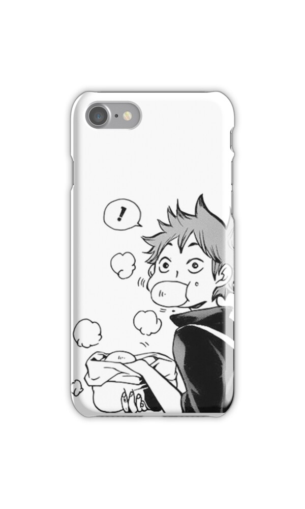 Quot Haikyuu Hinata Eating Senpai S Pork Buns Quot Iphone Cases