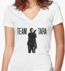 Team Tara- The Walking Dead Women's Fitted V-Neck T-Shirt