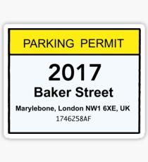 Baker Street Parking Permit Sticker