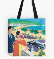 French Riviera Classic Vintage Travel Poster Tote Bag