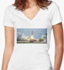 Rocket Launch Women's Fitted V-Neck T-Shirt