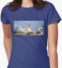 Rocket Launch Womens Fitted T-Shirt