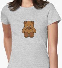 Teddy Bear Sticker Womens Fitted T-Shirt