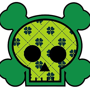 Plaid Clover Skull by joshburt