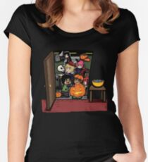 Carnikids: Trick-or-Treat Color (Dark) Women's Fitted Scoop T-Shirt