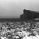 pennsylvania foggy barn by J.K. York