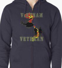Vietnam Veteran Zipped Hoodie