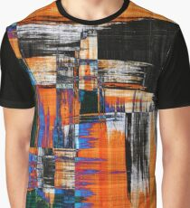 black blue and orange Graphic T-Shirt