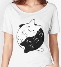 Ying Yang Cat Funny Kittens Women's Relaxed Fit T-Shirt