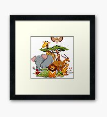 Jungle Animal Friends Framed Print