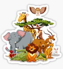 Jungle Animal Friends Sticker