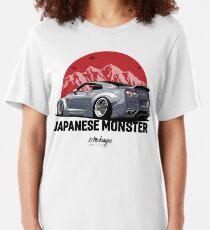 GTR. Japanisches Monster (grau) Slim Fit T-Shirt