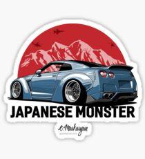 GTR. Japanese Monster (grey-blue) Sticker