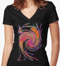 Care-free gone wild! Women's Fitted V-Neck T-Shirt
