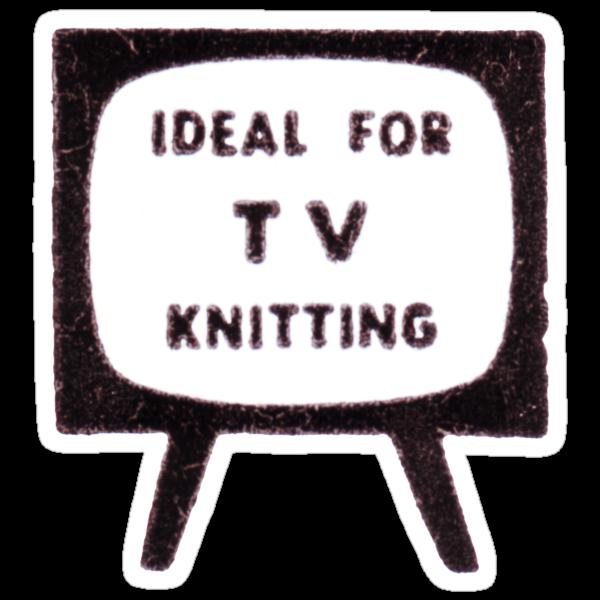 'Ideal for TV Knitting' Retro/Vintage Magazine Artwork by gshapley