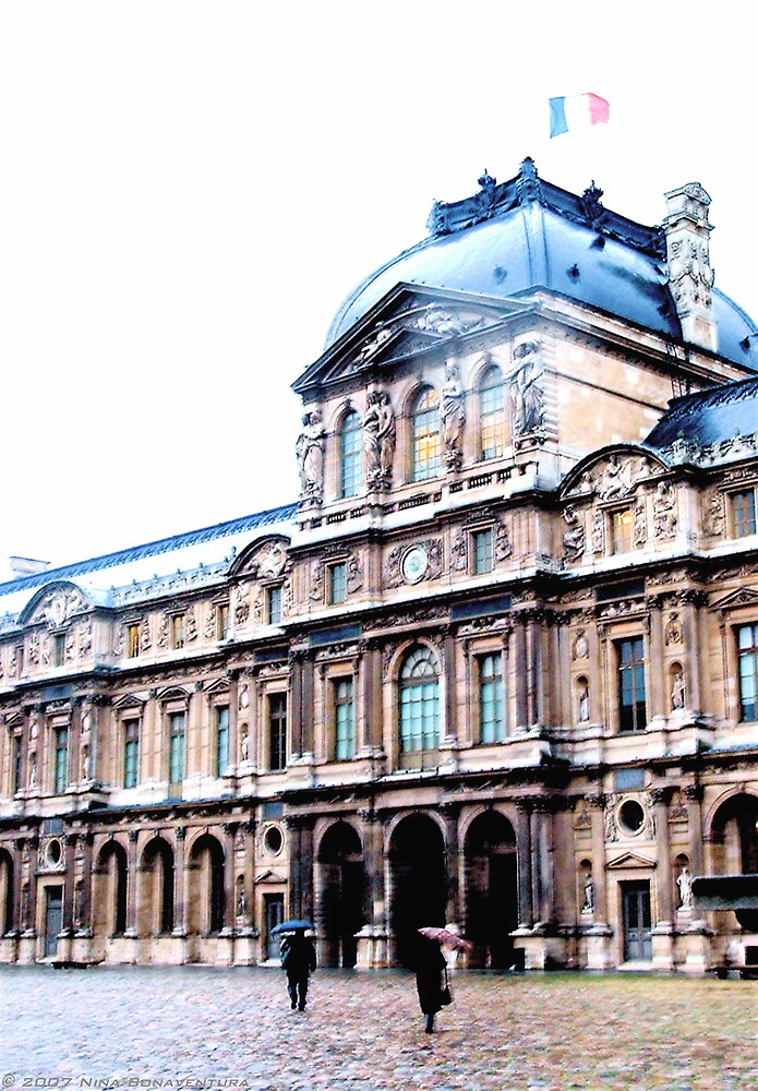 Louvre in the rain by NinaB