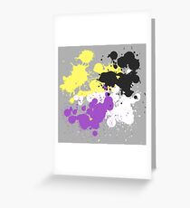 Paint Splatter (Nonbinary) Greeting Card