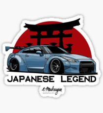 GTR. Japanese Legend (blue) Sticker