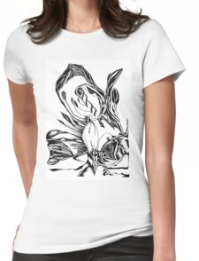 The form of Aroma  Womens Fitted T-Shirt