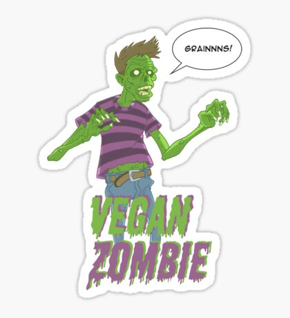 Vegan Zombie Sticker