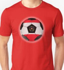 Austria - Austrian Flag - Football or Soccer Unisex T-Shirt
