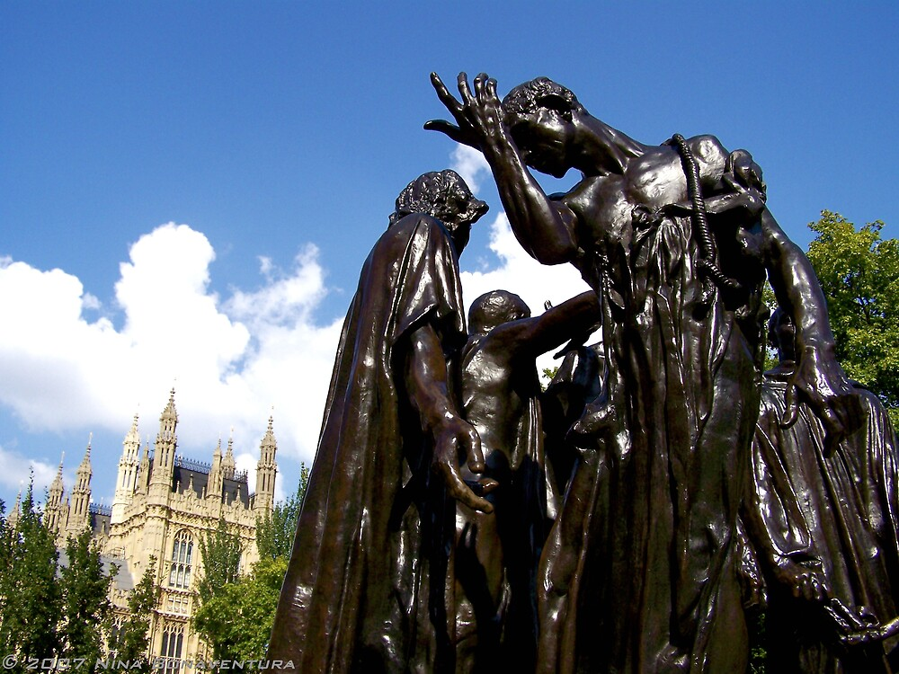 The Burghers of Calais, London by NinaB