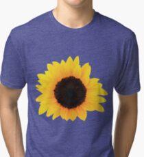 Sunflower Single Bloom Tri-blend T-Shirt