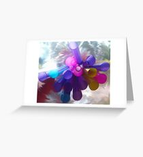 Abstract Straws Greeting Card