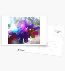 Abstract Straws Postcards