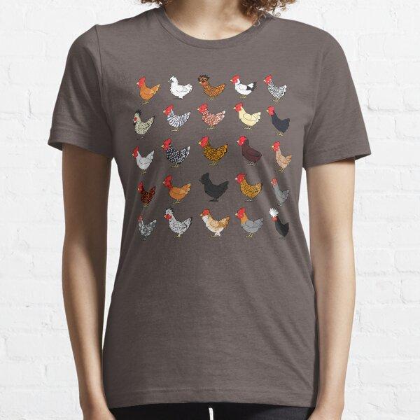 Chicken Breeds (captionless) Essential T-Shirt