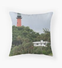 Through The Tress There Is Light Throw Pillow