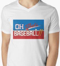 Oh! That's a Baseball!! JJBA Jojo's Bizarre Adventure Men's V-Neck T-Shirt