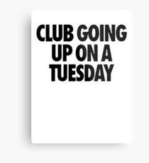 Club Going Up On A Tuesday [Black] Metal Print