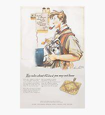 How to Make Good Custard - (A 1940's Ad)  Photographic Print