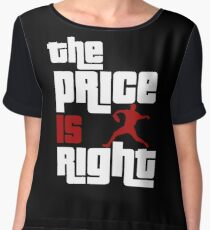 The Price Is Right Boston Baseball Pitcher Women's Chiffon Top