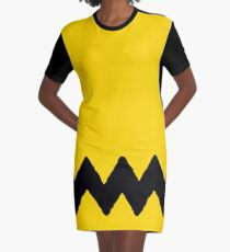 CHARLIE CHEVRON Graphic T-Shirt Dress