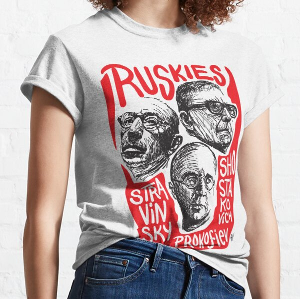 Ruskies-Russian Composers Classic T-Shirt