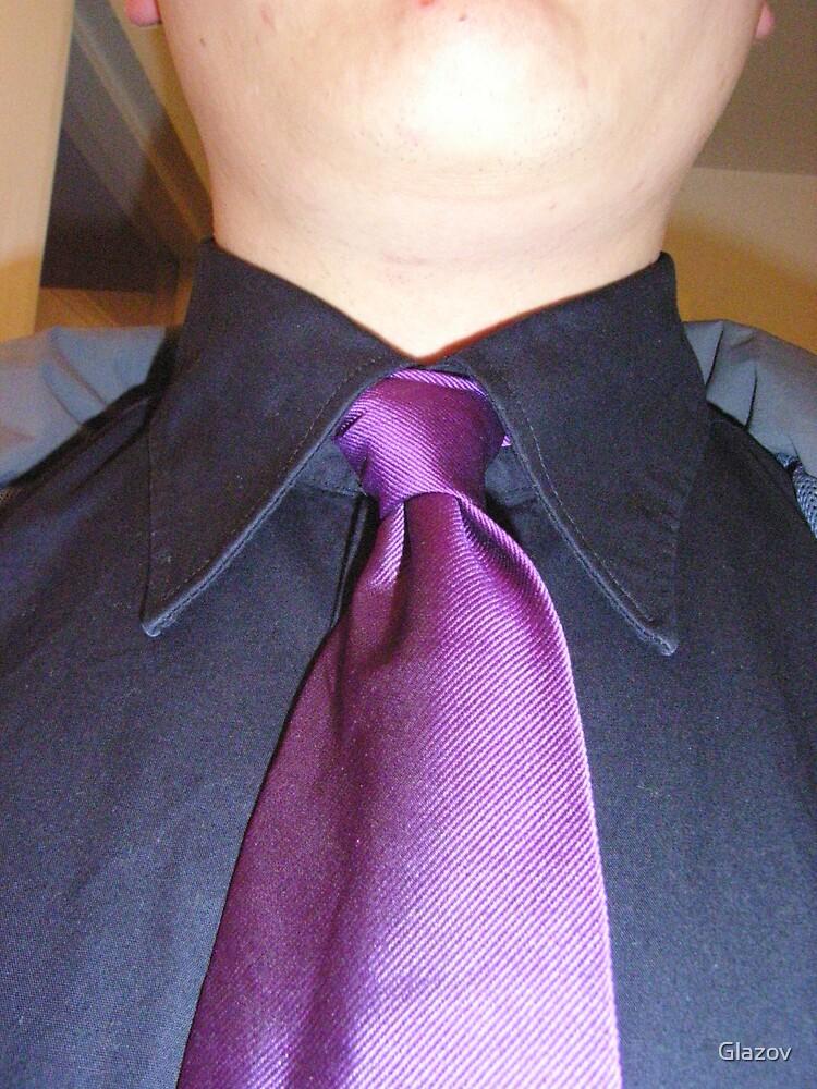 Self-Portrait in Purple Tie by Glazov