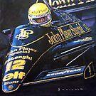 Ayrton Senna Lotus 98T1986 01 by Yuriy Shevchuk
