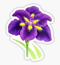 Spring Flower - Vintage Purple Flower Sticker