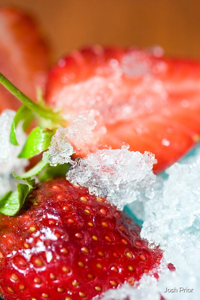 Iced Strawberries 3 by Josh Prior