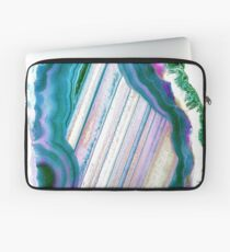 Geode Turquoise Blue Green Marble Stone Phone Case Laptop Sleeve