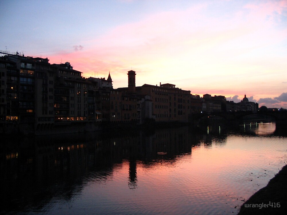 florence's arno river by Kara Temple