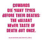 Julius Caesar Coward Quote by Incognita Enterprises