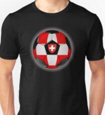 Switzerland - Swiss Flag - Football or Soccer Unisex T-Shirt