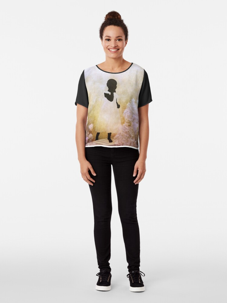Alternate view of Your Sacred Ground Chiffon Top