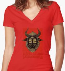 king gizard Women's Fitted V-Neck T-Shirt