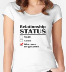 Relationship Status Anime Women's Fitted Scoop T-Shirt